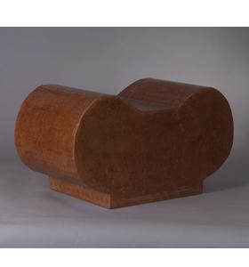 Siège – table basse en carton