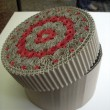 Boîte ronde dentelle de carton